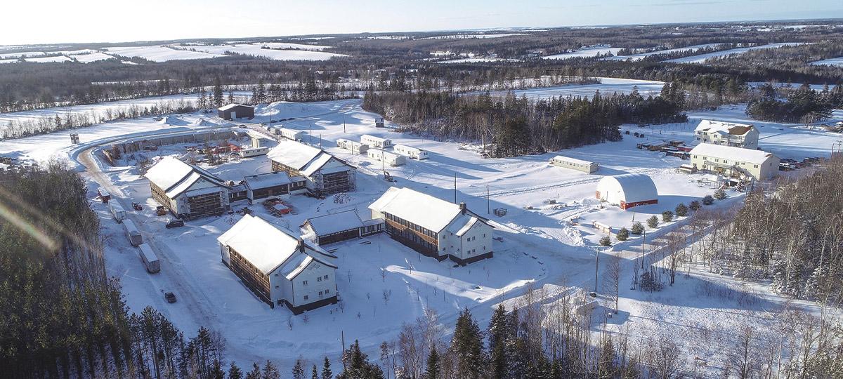 2020 年初,冬季的傳燈寺全景。