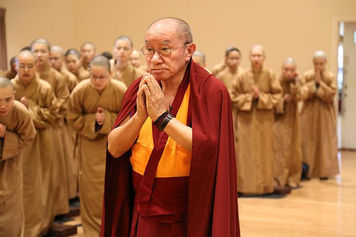 如法而行令師歡喜——記2017年哲蚌赤巴首度蒞臨南海寺僧團